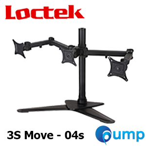 Loctek Triple LCD Monitor Desk Mount Stand ขาตั้ง 3 จอ แบบตั้งโต๊ะ (3S Move - 04s)