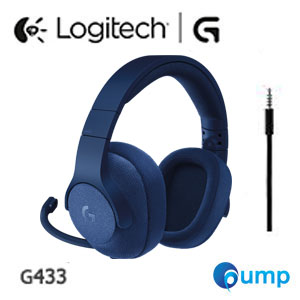 Logitech G433 Surround Sound 7.1 Gaming Headset With DTS - Blue