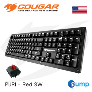 Cougar PURI Cherry MX Red Switches Mechanical Gaming Keyboard - US แถม Key TH