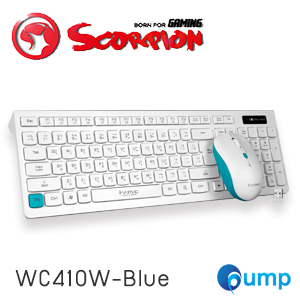 Marvo KC410W Wireless Keyboard and Mouse Combo Set - Blue