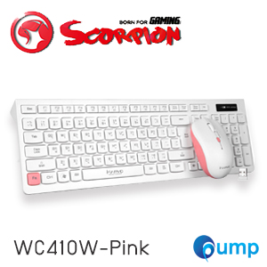 Marvo KC410W Wireless Keyboard and Mouse Combo Set - Pink
