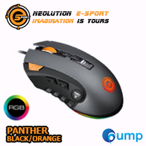 จำหน่าย-ขาย Neolution E-Sport PANTHER Programmable RGB Gaming Mouse - Black/Orange