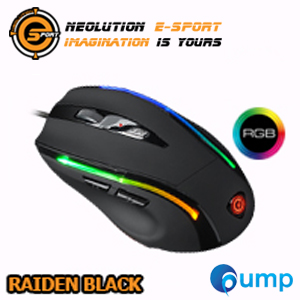 จำหน่าย-ขาย Neolution E-Sport Raiden Programmable RGB Gaming Mouse - Black