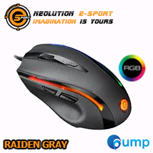 จำหน่าย-ขาย Neolution E-Sport Raiden Programmable RGB Gaming Mouse - Gray