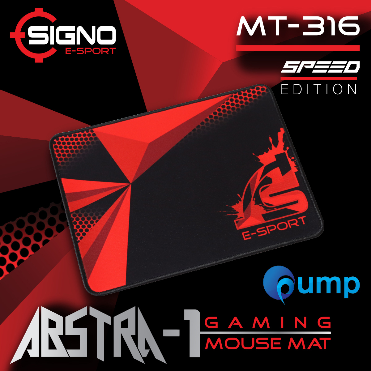 Signo E-Sport ABSTRA-1 MT-316 Gaming Mouse Mat Size M (Speed)