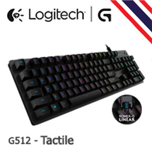 Logitech G512-Tactile RGB Mechanical Keyboard - ให้สัมผัสคล้าย Blue SW