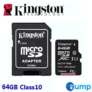 Kingston Micro SD Card 64GB Class 10