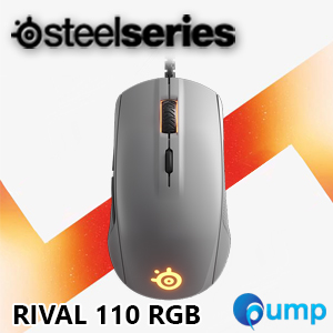 จำหน่าย-ขาย Steelseries Rival 110 RGB Gaming Mouse (Gray) - Free QCK Mini