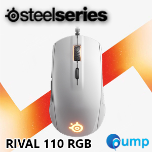 จำหน่าย-ขาย Steelseries Rival 110 RGB Gaming Mouse (White) - Free QCK Mini
