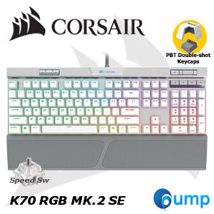 k70 rgb mk2 se mechanical gaming keyboard white