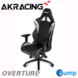 AKRacing Overture Gaming Chair - White/Gray