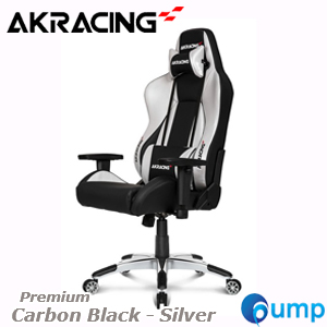 AKRACING PREMIUM Carbon Black - Silver V2 Gaming Chair [7002-BS]