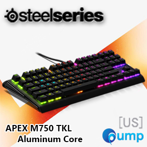 SteelSeries Apex M750 TKL Aluminum Core Mechanical Gaming Keyboard - Switch Red QX2 [US]
