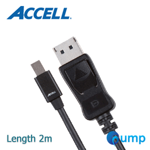 Accell UltraAV® Mini DisplayPort to DisplayPort 1.2 Cable (6.6ft, 2m) - Black
