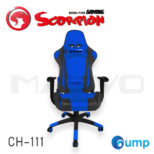 Marvo Scorpion CH-111 Adjustable ,Ergonomic Advanced Gaming Chair - Blue แถมลำโพง Marvo SG112
