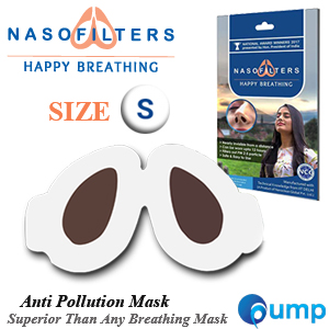 Nasofilters Anti Pollution Mask Happy Breathing - Size : S (30ชิ้น)