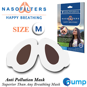 Nasofilters Anti Pollution Mask Happy Breathing - Size : M (30ชิ้น)