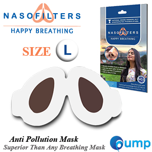 Nasofilters Anti Pollution Mask Happy Breathing - Size : L (30ชิ้น)