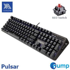 XANOVA Pulsar Gaming Keyboard - Cherry MX Red (ENG) - ฟรี Caps Thai
