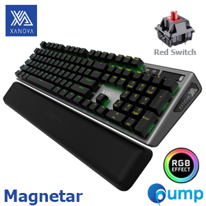 XANOVA Magnetar RGB Mechanical Keyboard - Red Cherry MX (ENG) - ฟรี Caps Thai