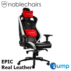 Noblechairs EPIC Real Leather - Black/White/Red