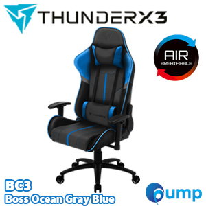 ThunderX3 BC3 Gaming Chair - Boss Ocean Gray Blue