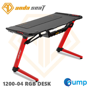Anda Seat 1200-04 RGB Gaming Desk - Red