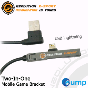 Neolution E-Sport Two-In-One Charger : USB Lightning - Moblie Game Bracket