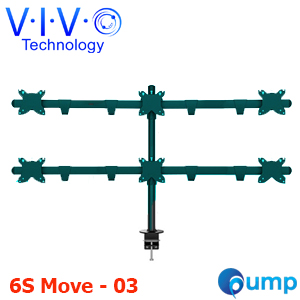 Vivo Hex LCD Monitor Desk Mount Stand (6S Move - 03) (ขาตั้ง6จอ)
