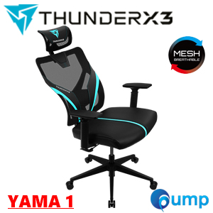 ThunderX3 YAMA1 ERGONOMIC Gaming Chair - Black/Cyan