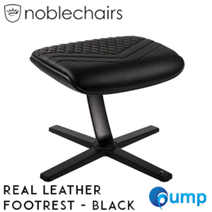 Noblechairs Footrest Top Grain Leather Gaming Chair Black