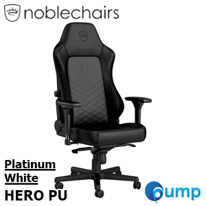 Noblechairs HERO PU - Black/Platinum White