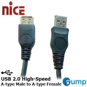 Nice USB 2.0 High-Speed Cable A-type Male to A-type Female 1.8m.