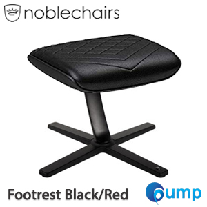 Noblechairs Footrest PU Gaming Chair - Black/Red