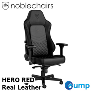 Noblechairs HERO Real Leather - Black/Red