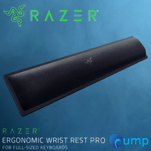 Razer Ergonomic Wrist Rest Pro Cooling Gel-Infused  Full-Size Keyboard