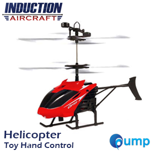 Induction Aircraft Helicopter Toys RC Infraed Hand Control - Red