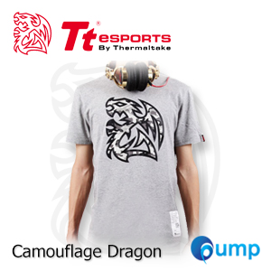 จำหน่าย-ขาย Ttesports Camouflage Dragon T-shirt [Gray]