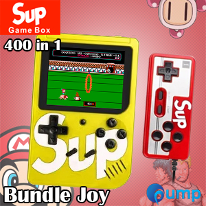 Sup Game Box 400 in 1 Consoles 8-Bit Retro & Classic & Nostalgic - Yellow + Joy II