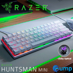 Razer Huntsman Mini RGB Clicky Optical Switch Gaming Keyboard - US (Mercury White)