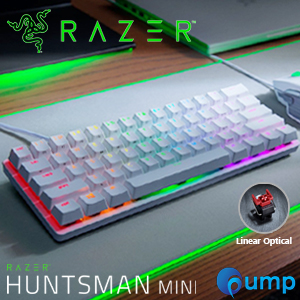 Razer Huntsman Mini RGB Linear Optical Switch Gaming Keyboard - US (Mercury White)