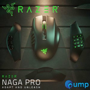 Razer Naga Pro MMO/MOBA/FPS Hyperspeed Wireless Gaming Mouse