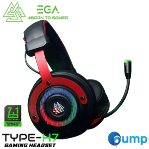 EGA Type H7 Spectrum RGB 7.1 Surround Gaming Headset - Black/Red