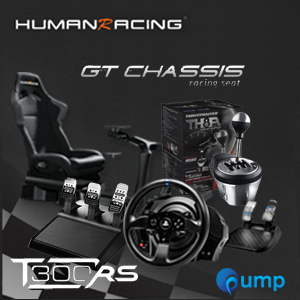 (Promotion Complete Set) HumanRacing GT Chassis (Black) + T300rs + T3PA add-on + TH8A add-on Shifter