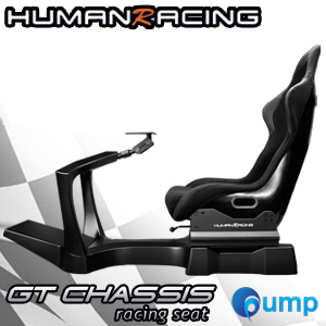 HumanRacing GT Chassis Non-Seat (Black) + Seat Add-On Racing Seat - Black