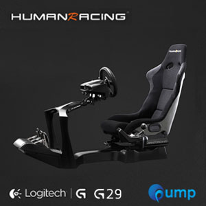 (Promotion Complete Set) HumanRacing GT Chassis (Black) + Logitech Racing Wheel G29 + Logitech Driving Force Shifter