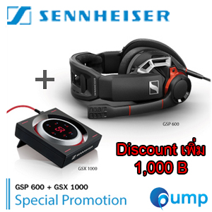 Promotion Sennheiser GSP 600 Close Professional Gaming Headset + Sound Card GSX1000 Audio Amplifier for PC and Mac ราคาพิเศษ!!