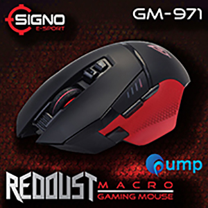 SIGNO E-Sport GM-971 REDDUST Macro Gaming Mouse