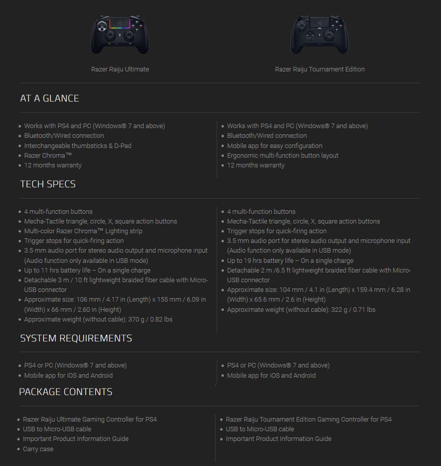 ขาย Razer Raiju Ultimate Wireless Controller joystick - PS4