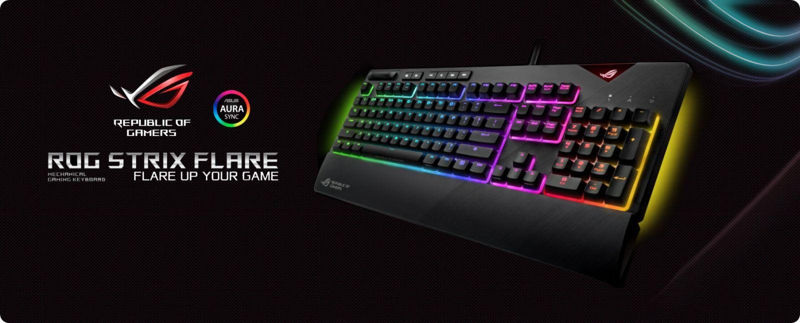 ขาย Asus Rog Strix Flare RGB Mechanical Gaming Keyboard - ฺ